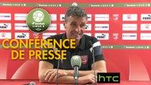 Conférence de presse Nîmes Olympique - Stade de Reims (3-0) : Bernard BLAQUART (NIMES) - Michel DER ZAKARIAN (REIMS) - 2016/2017