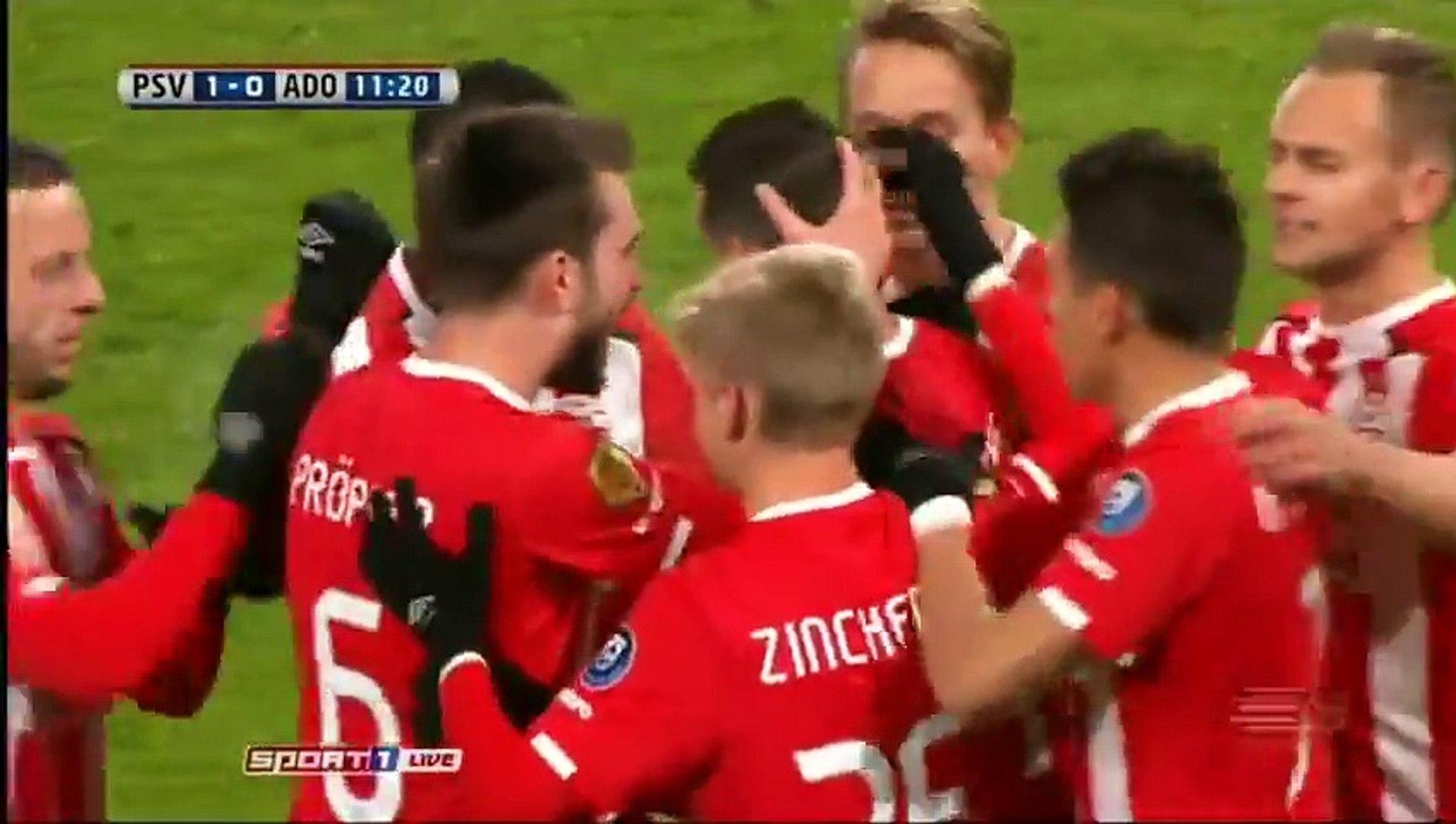 PSV Eindhoven vs ADO Den Haag 1-0 Gastón Pereiro Goal  Eredivisie 26-11-2016 (HD)