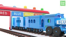 Learn Colors with Colorful Trains - EvanKids