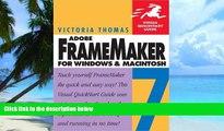 Price FrameMaker 7 for Macintosh and Windows (Visual QuickStart Guide) Victoria Thomas On Audio