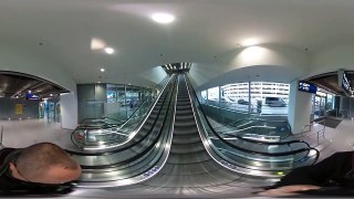360 degree Escalators Airport DUS one cut video