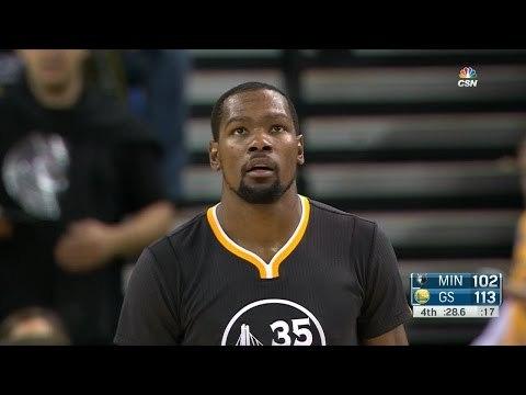 Kevin Durant 5 Blocks | Timberwolves vs Warriors | November 26, 2016 | 2016-17 NBA Season