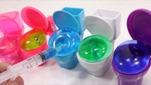 Toy Surprise Eggs Slime Syringe Toilet Chocolate Poop Slime Syringe Water Balloons Learn Colors