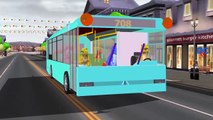 Wheels On The Bus Go Round And Round Nursery Rhymes for Children Dinosaurs Cartoons for Babies, Kids