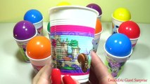 CRAZY CUPS and Balls Surprise Eggs LEARNING COLORS Toys For Kids Colour Balls Video For Children #1