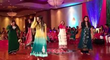 Mehndi Dance Of Pakistani Wedding Beautiful Girls Dance Performance