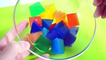 How To Make Colors Jelly Pudding Learn Colors Clay Slime Surprise Toys Crystal Slime