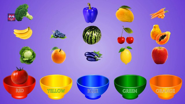 Fruits and Vegetables Colors | Color Sorting For Children | Fun Educational Video Game for Kids