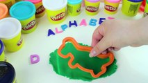 Learn Alphabet - Letter D with Play-Doh Animals Dinosaur & Dog - Fun Creative for Kids