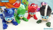 PJ Masks Romeo Game Play HUNGRY HUNGRY HIPPOS Challenge & Catboy, Owlette, Gekko Toy Surprises, MLP