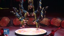 Chinese Acrobats Amazed During Circus Festival