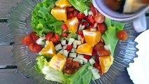 Ensalada mixta de salmón y ensalada de mandarinas-Cocina Facil