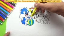 Coloring Pages And Learn Colors For Kids With Baby Looney Tunes