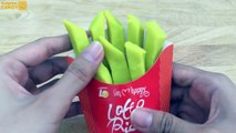 Yellow and Rainbow Lotte French Fries Lets make with PlayDoh Fun and Creative