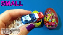 Surprise Eggs Learn Sizes From Smallest to Biggest! Surprise Eggs with Candy and Toys! Lesson 3