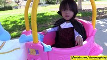 Family Toy Channel - Little Tikes Princess Carriage Ride-On Playtime with Marxlen at the Park-4LtkgTOrB9E
