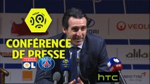 Conférence de presse Olympique Lyonnais - Paris Saint-Germain (1-2) : Bruno GENESIO (OL) - Unai EMERY (PARIS) - 2016/2017