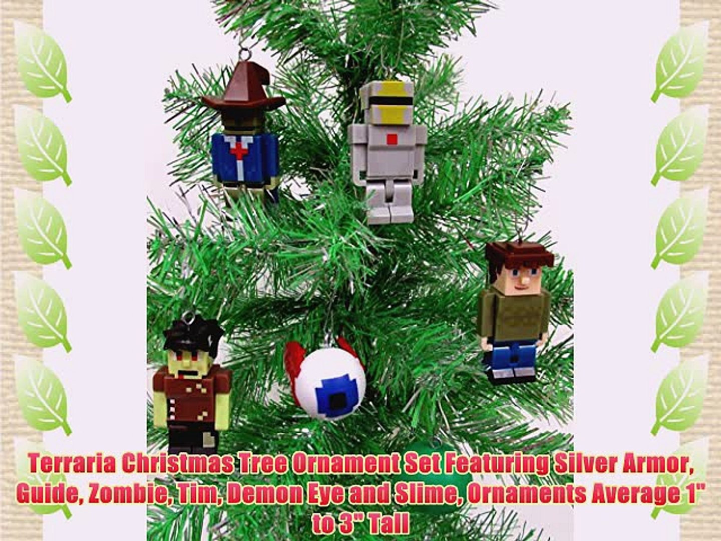 Terraria Christmas.Terraria Christmas Tree Ornament Set Featuring Silver Armor Guide Zombie Tim Demon Eye And