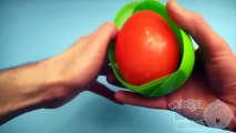 Learn Colours with Surprise Nesting Eggs! Opening Surprise Eggs with Kinder Egg Inside! Lesson 21