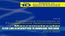 [READ] Mobi Topics in Fluorescence Spectroscopy, Vol. 10: Advanced Concepts in Fluorescence
