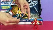 Marvel Toys Unboxing - Super Heros Rescue Jet   Iron man, Wolverine - Marvel Avengers Toys-bCF440uT2TM