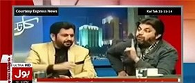 Aamir Liaqut is Taking Superb Class of Javed Chaudhry and Saleem Safi