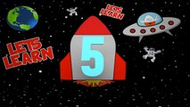 Counting Numbers Rocket Ship 3D Animation Learning Colours With Surprise Eggs for Kids & Toddlers