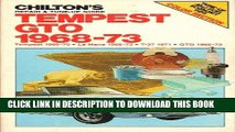 [PDF] Chilton s Repair and Tune-Up Guide Tempest Gto 1968-73 Full Online
