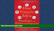 READ book One Simple Idea for Startups and Entrepreneurs:  Live Your Dreams and Create Your Own