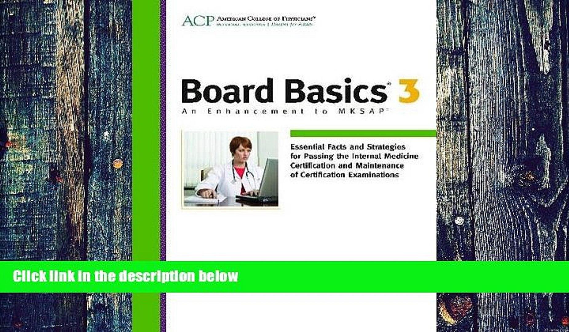 Pre Order Board Basics 3 Acp mp3