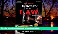 Pre Order Oran s Dictionary of the Law Daniel Oran Full Ebook