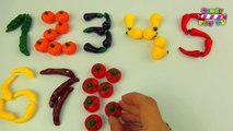 Learn To Count With Fruit And Vegetables | Numbers Counting to 10 | Learn Numbers 1-10 For Toddlers