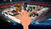 Finger Family Finger Familly Monster Truck Stunt Monster Truck Videos For Kids Monster Trucks Fo
