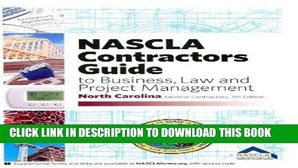 [READ] Kindle NASCLA Contractors Guide to Business, Law and Project Management (North Carolina 7th