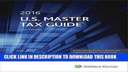 [READ] Kindle U.S. Master Tax Guide (2016) Free Download
