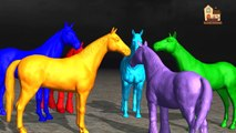 Nursery Children Colors Song with Horse | Learn Colors Lesson for Preschool Toddlers