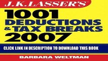 [READ] Kindle J.K. Lasser s?1001 Deductions and Tax Breaks 2007: Your Complete Guide to Everything