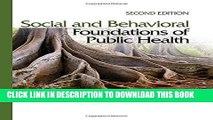MOBI DOWNLOAD Social and Behavioral Foundations of Public Health PDF Ebook