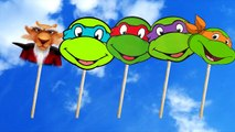 Ninja Turtles Finger Family Lollipop Nursery Rhymes Lyrics