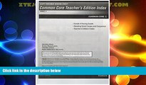 Best Price Scott Foresman Reading Street Common Core Teacher s Edition Index, Grade 4 Scott