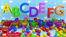 LEARN ABC AND Learn Count Numbers - 3D Surprise Eggs - Eggs Surprise 3D Color Ball Show for Kids