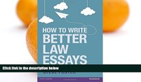 Pre Order How to Write Better Law Essays: Tools   Techniques for Success in Exams   Assignments