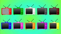 Teach Colors With TVs ,All Colors Of TVs , Learn Colors For Kids