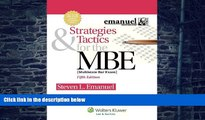 Price Strategies   Tactics for the MBE, Fifth Edition (Emanuel Bar Review) Steven L. Emanuel For
