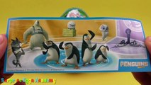 5 Kinder Surprise Eggs Opening - Kinder Überraschung Maxi - Penguins of Madagascar Toys, Batman Toys
