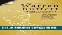 [FREE] Ebook Essays of Warren Buffett Lessons for Investors and Managers PDF Online