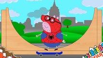 Peppa Pig, Spider Pig | Skateboarding Pigs | Kinder Surprise Eggs #Animation Kids & Toddlers