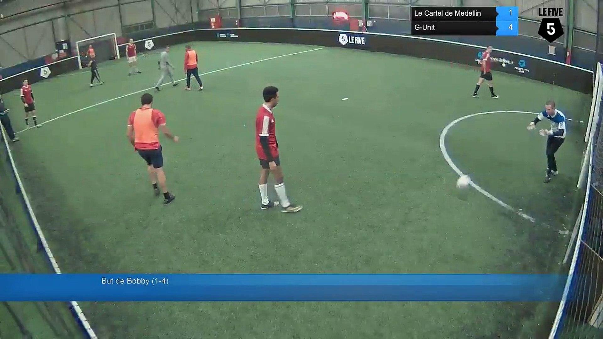 But de Bobby (1-4) - Le Cartel de Medellin Vs G-Unit - 28/11/16 21:00 - Bezons (LeFive) Soccer Park