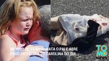 Menino de 14 anos mata o pai e abre fogo em escola da Carolina do Sul.