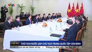 Chu tich nuoc Tran Dai Quang gap Chu tich Trung Qu